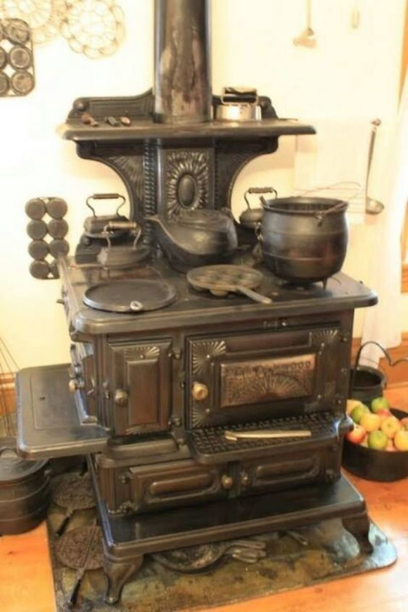 Old fashioned wood cook stoves