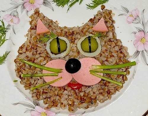 Кот на тарелке