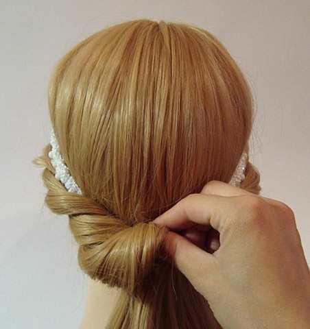 Греческая причёска на выпускной