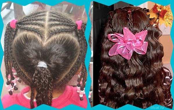 причёски на 1 сентября для девочек на длинные пряди