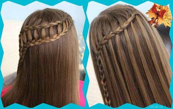 Причёски для девушек на длинные волосы к 1 сентября