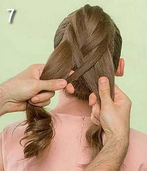 Плетение косы на выпускной